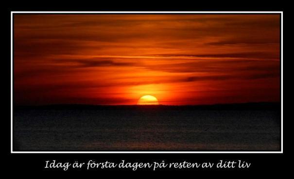 I dage er første dagen i resten av ditt liv