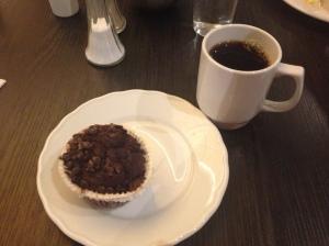 Gluten og melkefri muffins er ikke daglig kost til frokost og heller ike vanlig å finne når en inntar frokosten på hotell!