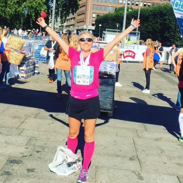 Oslo Maraton september 2016 og endelig i mål!